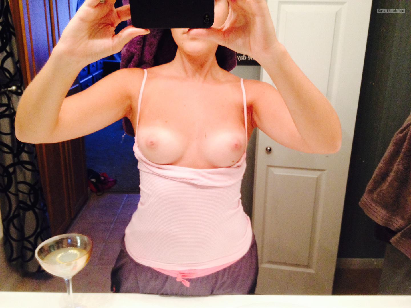 Small Tits Of My Wife Selfie by Sexy Wife